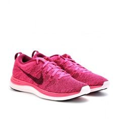 Nike Flyknit Lunar 1+ Sneakers ($240) ❤ liked on Polyvore featuring shoes, sneakers, runners, flyknit shoes, nike footwear, nike, laced shoes and laced up shoes