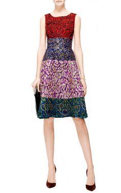 Embroidered Jacquard Dress by Oscar de la Renta - Moda Operandi