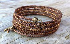 Seasonal Sparkler Multi Strand Memory Wire Bracelet