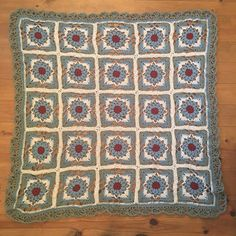 And finished is the Tiles Blanket! Freshly off the block This Tiles Blanket was started impulsively and grew quickly, until. Tiles, Bohemian Rug, Crochet Blankets, Stitch, Inspired, Rugs, Crocheting, Plaid, Room Tiles