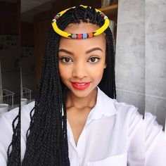 Makeup and Braids. #Zulu_Girl