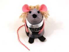 Doctor Who River Song ornament felt mouse hamster rat mice cute gift for animal lover or dr who fan collector - MADE TO ORDER