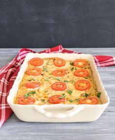 Remember earlier in the week when I told you to save some of that cashew cheese for today? Now you know why  This casserole is unbelievably yummy. On the bottom, there's spaghetti tossed with a homema