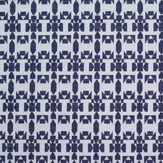 Rebecca Minkoff Blue and White Geometric Jacquard - Fashion Fabrics