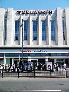 Art deco Woolworths store, Brixton Road, Brixton, London