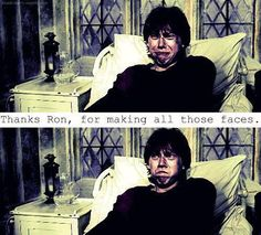 Thanks Ron for making all those faces. (Hahahaha yes! Perfect.)