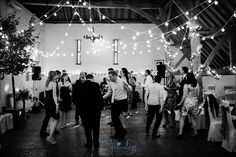 Random loops festoon canopy in the barn at Ufton. Lights by Oakwood Events, Photo by Chris Legg
