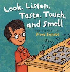 5 Senses Books for kids - five senses look, listen, taste, touch, and smell