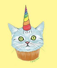unicorn kitty cupcake