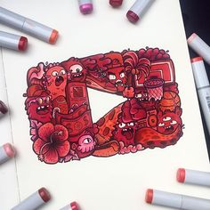 the Doodle YouTube playbutton ✍️ After doing YouTube for 2 years, I feel like making these videos has become as much as a passion as making art is to me  It has become another outlet of my creativity, and I'm super glad you guys follow me on this journey  Thank you!