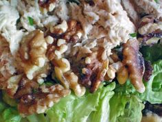 Tuna and Apple Salad with Walnuts - (good recipe to build upon; omit dill, add shaved or minced carrots, sweet pickle relish, hard-cooked eggs, etc. - /B.) - http://wellnessmama.com/1738/homemade-tuna-and-apple-salad-with-walnuts/