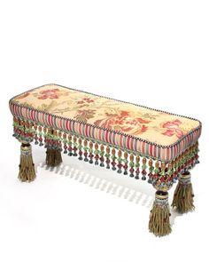 Tassel Tapestry Bench by MacKenzie-Childs
