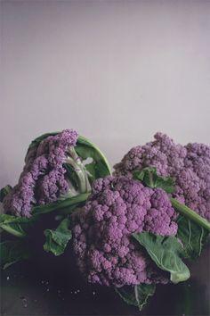 Roasted purple cauliflower.