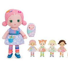 Mooshka Tot Doll Deava is cute and snuggable! Kids will enjoy pretend time with the finger puppet and string of paper dolls she comes with. Now available online from Kmart for $10.38 (reg. $12.99) #mooshka #mooshkadolls #toy #doll #wishlist #giftguide #giftsforkids #holidaygiftsforkids #Christmasgifts