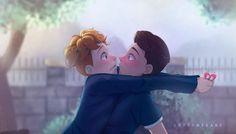 In a heartbeat imagenes - - Wattpad Gay Lindo, Wattpad, Cute Gay, In A Heartbeat, Short Film, Smurfs, Fandoms, Relationship, Fan Art