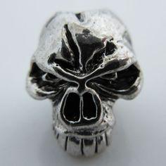 Emerson Skull Bead in Antique Rhodium Finish by Schmuckatelli Co.