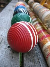 loved playing croquet in the back yard - after I got off my pogo stick
