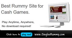 Junglee Rummy offers you a great way to play cash rummy and make instant money online.