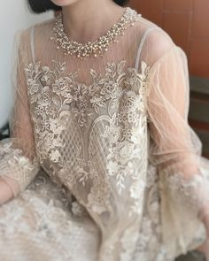 New african lace dress with sleeves 25 Ideas Kebaya Lace, Kebaya Brokat, Kebaya Dress, Dress Pesta, Pakistani Fashion Party Wear, Pakistani Formal Dresses, Dress Brukat, Tulle Dress, Kebaya Modern Dress