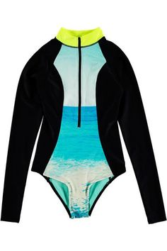 19 one piece swimsuits that are fashionable, flattering and chic...Forever 21 wave wetsuit