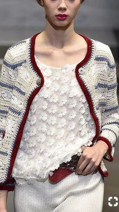 Gilet Crochet, Crochet Jacket, Freeform Crochet, Crochet Cardigan, Knit Crochet, Knitting Designs, Crochet Designs, Summer Knitting, Fashion Now