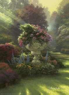 Thomas Kinkade - The Garden of Hope  2004