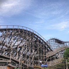 Find Balder, twice voted the Best Wooden Tracked Roller Coaster, at the Liseberg amusement park in Gothenburg #sweden