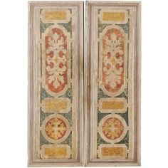 For Sale on - A pair of Italian wooden doors, decoratively painted, from the century. This pair of vintage Italian doors feature a single front recessed panel Doors, Painted Paneling, Wooden Doors, Modern Door, Vintage Doors, Home Building Design, Painted Doors, Wood Doors, Italian Doors