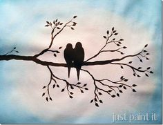 Birds on a Branch Painting