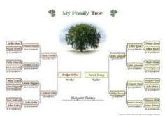 Several Free printable family tree templates