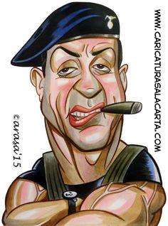 caricatura-Barney Ross-sylvester-stallone-mercenarios.jpg (518×700)