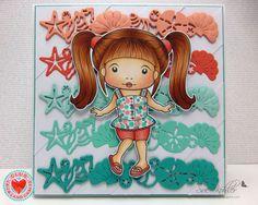 La-La Land Crafts Summer Fun Marci Skin: E000, E00, E21, E11, R11, R20, R21 Hair: E11, E13, E15, E19, E18 Shorts: R12, R21, R22, R24 Top: N0, N1, BG23, BG57, R22, R24