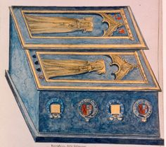 Thomas Dugdale's illustration of the tombs of Katherine Roet, Duchess of Lancaster and her daughter Joan Beaufort. Richard Iii, Tudor History, British History, Asian History, Uk History, European History, Catherine De Valois, Persona, Lovers