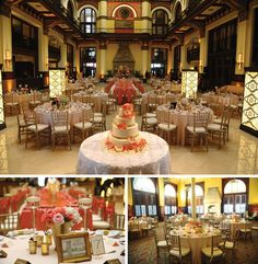 Adore these cream and peach wedding details. View more from this posh Nashville wedding with coral details at @unionstationnsh! Rentals and decor by @classicpr. Pics: Wharton Photography   The Pink Bride www.thepinkbride.com