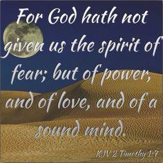 KJV Bible Verse - 2 Timothy 1:7