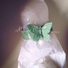 Porta tovaglioli idea regalo segnaposto evento battesimo nascita bomboniera baby farfalla butterfly