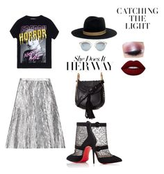 """Her way"" by einatv ❤ liked on Polyvore featuring Filles à papa, Christian Louboutin, Chloé, Janessa Leone, Christian Dior, Lime Crime and Too Faced Cosmetics"
