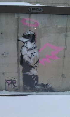 Banksy street art in Park City, Utah