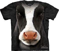 Black Cow Face Kids T-Shirt