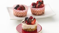 Imagine these berry cheesecakes on your next dessert tray! Showstoppers this easy are what everyone needs.