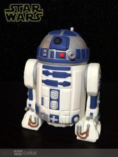 Your Cake. Star Wars: Tutorial R2-D2 fondant