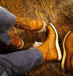 Red Wing Couple! Moc toe 875 & Pecos 866. No need to try hard to make these boots look great!!