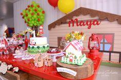 Que amor esta Festa Chapquezinho Vermelho! Decoração Rubia de Lima. Lindas ideias e muita inspiração! Bjs, Fabiola Teles. Mais ideias lindas...