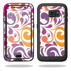 MightySkins Protective Vinyl Skin Decal for LifeProof Samsung Galaxy S6 Case fre wrap cover sticker skins Swirly Girly