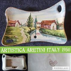 ARTISTICA ARETINI 1950 PIATTO CERAMICA