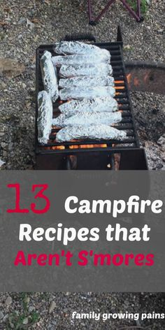 13 Campfire Recipes that Aren't S'mores Are you sick of cooking hamburgers and hot dogs while camping? These 13 recipes are delicious and change what you imagine as campfire food. Take a look before you head camping this weekend. Camping Life, Camping Meals, Family Camping, Camping Hacks, Tent Camping, Backpacking Meals, Camping Cooking, Ultralight Backpacking, Food To Take Camping