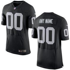 Men's Oakland Raiders Nike Black Elite Custom Jersey