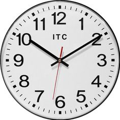 """Infinity Instruments' Carnegie wall clock is perfect for the office environment. This clock is packed with convenient features, and the simple contrasting black and white colors make it a modern and understated timepiece. The large white dial and bold black Arabic numerals make this clock extremely easy to read from afar. The clock also features a shatter-resistant lens, allowing it to be durable for the office, and DTS """"set it and forget it"""" auto time adjustment."""