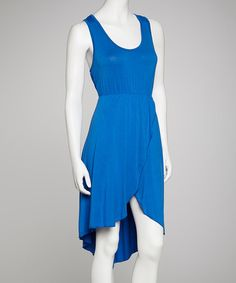 Take a look at this Royal Sleeveless Hi-Low Dress by Life and Style Fashions on #zulily today!
