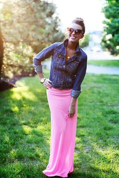 Pink Maxi Skirt by SarahLMeyers on Etsy, $30.00